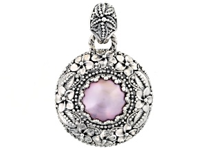 Cultured Pearl Mabe Sterling Silver Pendant