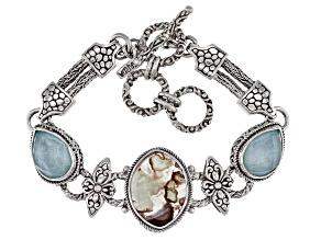 Aquaprase Sterling Silver Bracelet