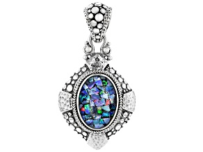 Mosaic Opal Doublet Sterling Silver Pendant