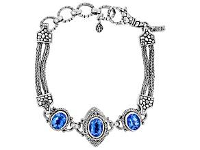 Royal Bali Blue™ Topaz Silver Bracelet 6.12ctw