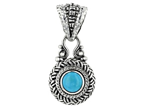 Turquoise Sleeping Beauty Cabochon Silver Pendant