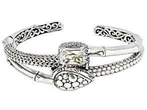 Canary Spodumene Silver Cuff Bracelet 2.56ctw