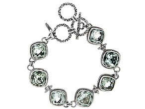 Green Prasiolite Sterling Silver Bracelet 10.01ctw