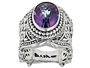 Blue Jay Jazz™ Mystic Quartz Sterling Silver Ring 4.76ct