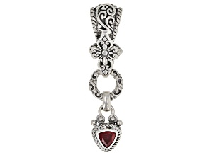 Red Ruby Sterling Silver Pendant 0.85ct