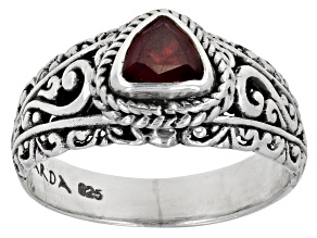 Ruby Sterling Silver Ring 0.85ct