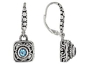Blue Topaz Sterling Silver Earrings 0.22ctw