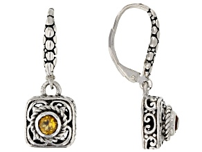 Golden Citrine Sterling Silver Earrings 0.20ctw