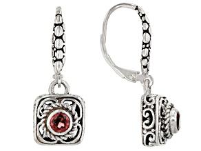 Red Garnet Sterling Silver Earrings 0.29ctw