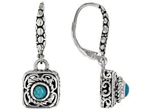 Blue Pariaba Opal Sterling Silver Earrings 0.17ctw