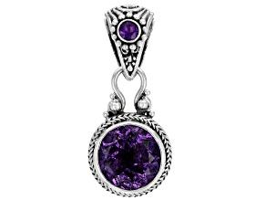 Purple Amethyst Sterling Silver Pendant 4.94ctw