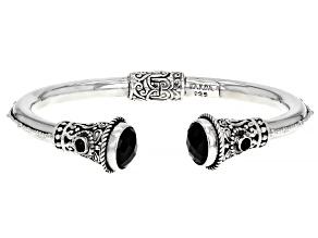 Black Spinel Sterling Silver Cuff Bracelet 2.89ctw