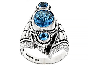 Blue Topaz Sterling Silver Ring 2.33ctw