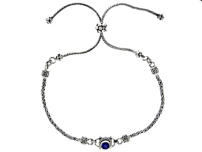 Blue Kyanite Sterling Silver Bolo Bracelet 0.55ct