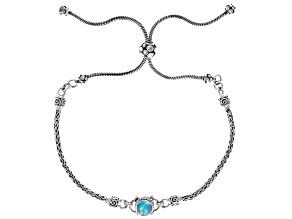 Paraiba Opal Sterling Silver Bolo Bracelet