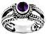Purple Amethyst Sterling Silver Ring 0.43ct
