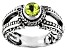 Green Peridot Sterling Silver Ring 0.51ct