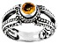 Yellow Citrine Sterling Silver Ring 0.43ct