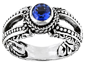 Blue Kyanite Sterling Silver Ring 0.55ct