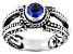 Blue Kyanite Sterling Silver Ring 0.55ct