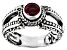 Red Ruby Sterling Silver Ring 0.60ct