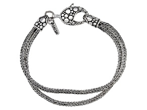 Sterling Silver Double-Strand Chain Bracelet