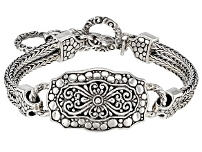 Sterling Silver Double- Strand Bracelet
