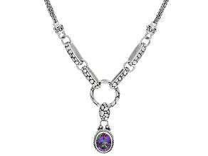 Odyssey Green™ Topaz Silver Necklace 2.01ctw