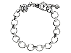 "Magnetic Clasp Chain Link Converter in Sterling Silver with 4"" Extender"
