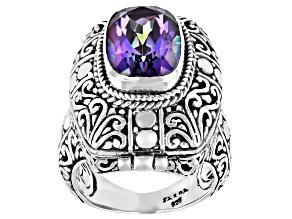 Blue Jay Jazz™ Quartz Sterling Silver Locket Ring