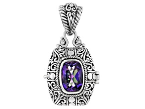 Blue Jay Jazz™ Quartz Sterling Silver Locket Pendant 5.27ct