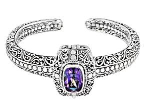 Blue Jay™ Quartz Sterling Silver Locket Cuff Bracelet 5.27ct