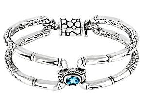 Paraiba Color Apatite Sterling Silver Bracelet .77ct