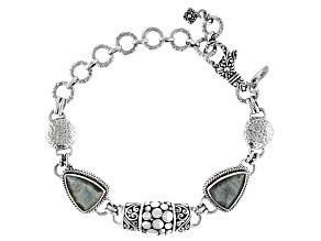 Gray Cats Eye Quartz Sterling Silver Bracelet