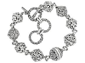 Sterling Silver Station Bracelet