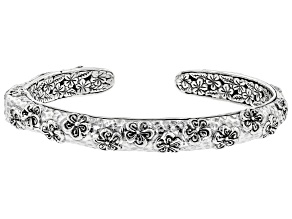 Sterling Silver Frangipani Sterling Silver Cuff Bracelet