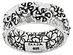 Sterling Silver Frangipani Band Ring
