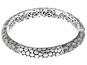 "Sterling Silver ""Purposely"" Bangle Bracelet"