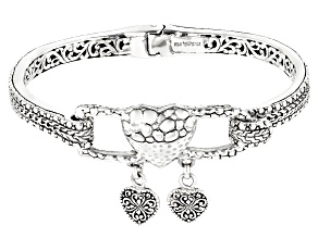 "Sterling Silver ""Treasure Box"" Bangle Bracelet"