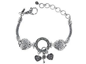"Sterling Silver ""Treasure Box"" Charm Bracelet"