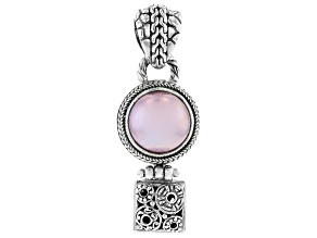 Pink Mabe Pearl Sterling Silver Pendant