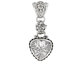 Crystal Quartz Sterling Silver Pendant 7.01ctw