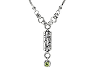 Peridot Sterling Silver Necklace 1.42ctw