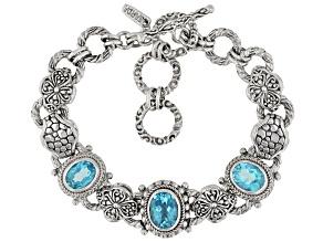 Bali Breeze™ Topaz Sterling Silver Bracelet 6.89ctw