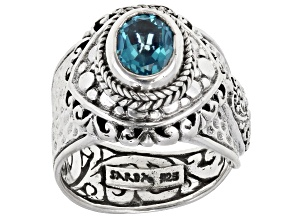 Bali Breeze™ Topaz Sterling Silver Solitaire Ring 2.04ctw