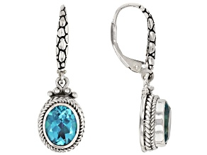 Bali Breeze™ Topaz Sterling Silver Earrings 4.08ctw