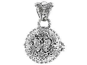 "Sterling Silver ""Transforming"" Butterfly Locket Pendant"