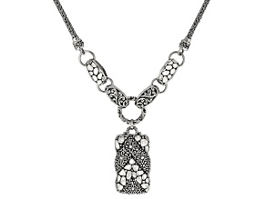 """Sterling Silver """"What Is Right And True"""" Drop Necklace"""