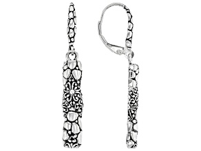 "Sterling Silver ""What Is Right And True"" Dangle Earrings"