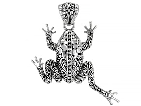 """Sterling Silver Frog """"Leap of Faith"""" Pendant"""